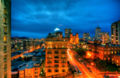 HDR image of San Francisco at night