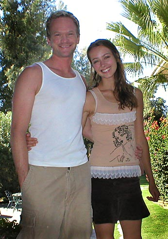 Photo of Neil Patrick Harris & his friend  Amy Acker