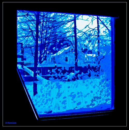 Winter Window View